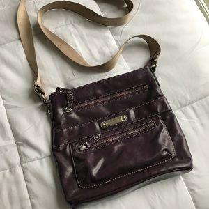 franco sarto plum crossbody purse